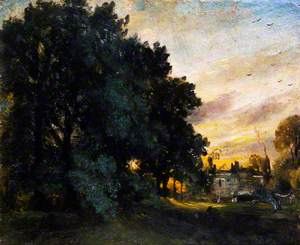 Study of a House among Trees, Evening