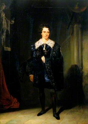 Charles Kean (1811–1868), as Hamlet in 'Hamlet' by William Shakespeare