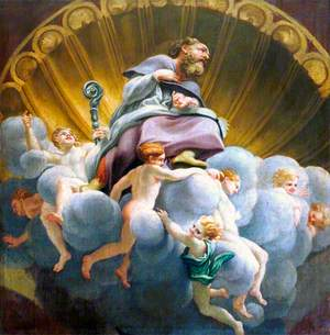 Saint Bernard Surrounded by Angels