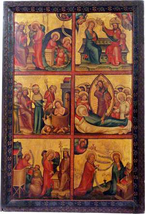 3 Scenes from the Life of Saint John the Evangelist; 3 Scenes from the Life of the Virgin