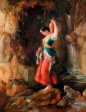Waterfall at St Nighton's Kieve, near Tintagel