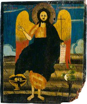 Saint John the Baptist with Emblems of Martyrdom
