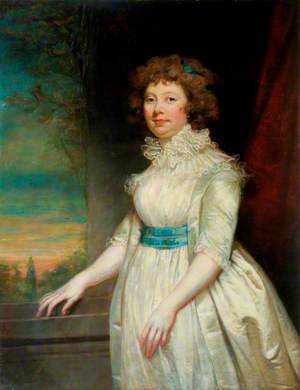 Portrait of a Lady Wearing a White Dress