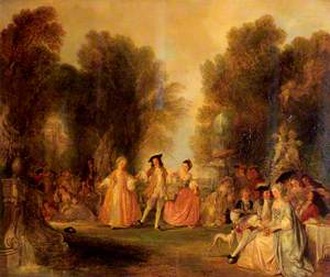 A Garden Scene, in the Manner of Watteau