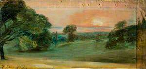 A Landscape near East Bergholt, Evening