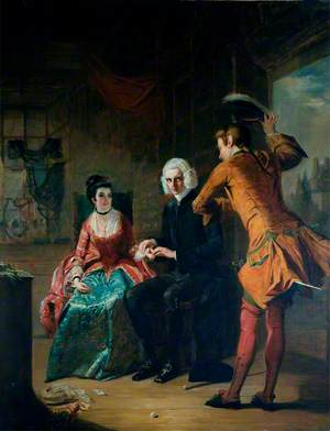 Scene from Laurence Sterne's 'A Sentimental Journey'