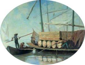 A Lake Geneva 'Bateau' (sailing barge)
