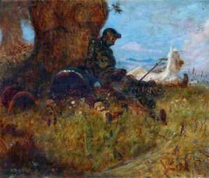 Don Quixote and Rosinante Reposing under a Tree