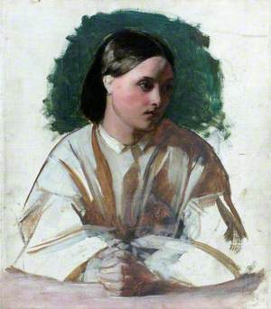 A Girl with Clasped Hands