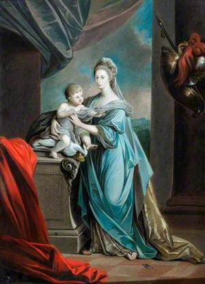 Princess Augusta Charlotte (1737–1813), Eldest Sister of George III, with Her Infant Son