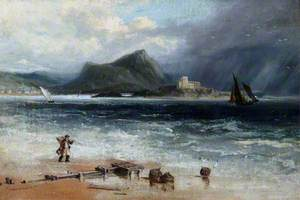 Coast Scene with a Shrimper