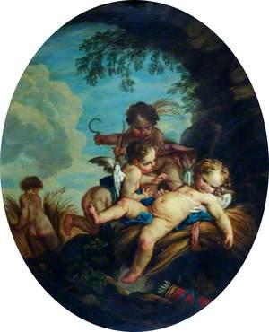 L'amour moissonneur (Cupid as a Reaper)