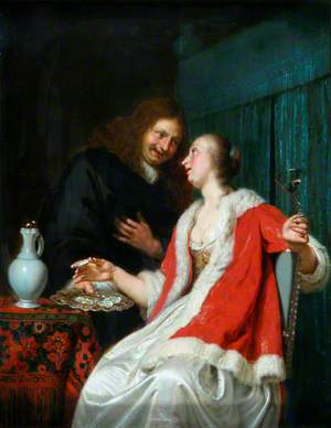 Interior: A Gentleman Offering Oysters to a Lady