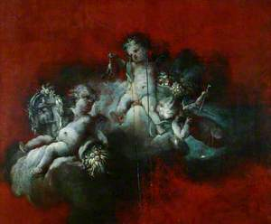 Three Cupids with Signs of the Zodiac: Scorpio, Sagittarius, Libra