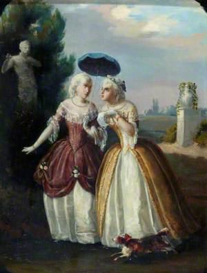 Ladies in Conversation: An Eighteenth Century Costume Piece