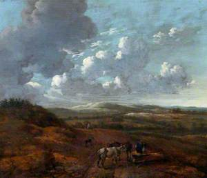 Landscape with Cattle and Herdsmen Seated on a Log