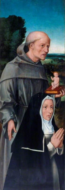 Saint Anthony of Padua with a Nun
