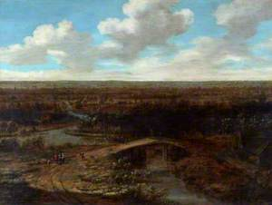 Landscape with a Town in the Middle Distance