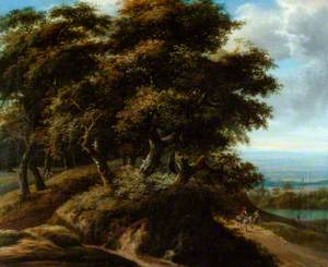 Landscape with a Peasant on a Donkey