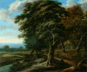 Landscape with a Figure on Horseback