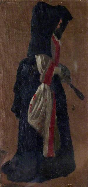 A Lady Seen in Profile, Holding a Fan