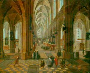 Interior of Antwerp Cathedral