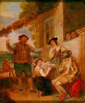 Don Quixote Outside an Inn