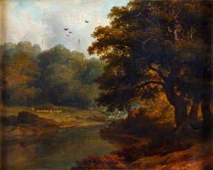 Landscape with a Stream and Woods