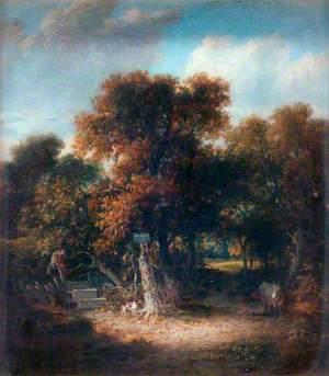 Landscape: A Woody Lane near Hastings