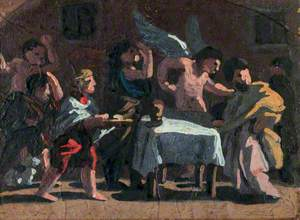 Feast Scene with an Angel