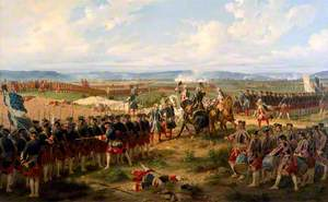 The Battle of Fontenoy, 1745: The French and the Allies Confronting Each Other