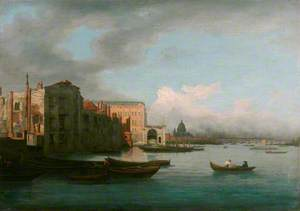 The Thames Looking Eastwards, with Somerset House