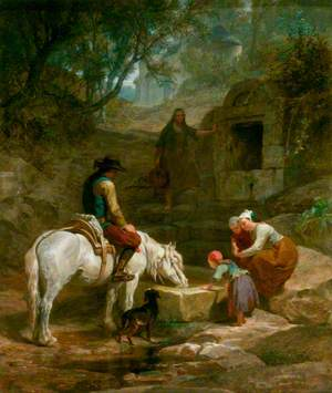 The Drinking Trough: A Scene in Brittany