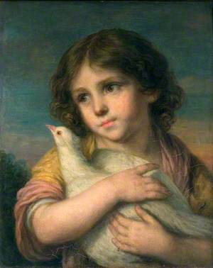 Innocence: A Girl with a Dove