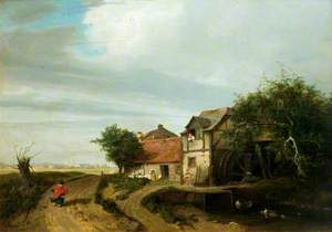 Landscape with a Cottage and a Water-Wheel