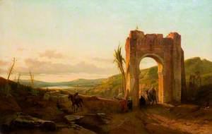 Oriental Landscape with a Caravan