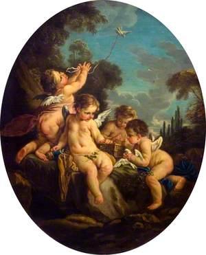 L'amour oiseleur (Cupid as a Bird-Catcher)