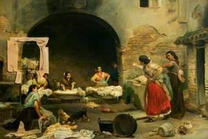 Washerwomen Disputing