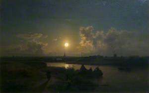 River with Moonlight Effect