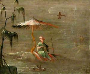 A Chinese Dignitary Riding a Fish