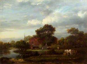 Landscape with a Cottage and a Brook