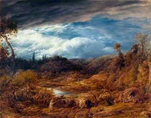 Landscape, Driving Cattle