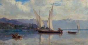 Lake Geneva with Sailing Boats