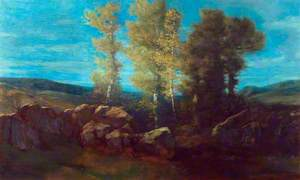 Landscape with a Stream and Hills