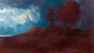 Landscape with a Road over a Hill
