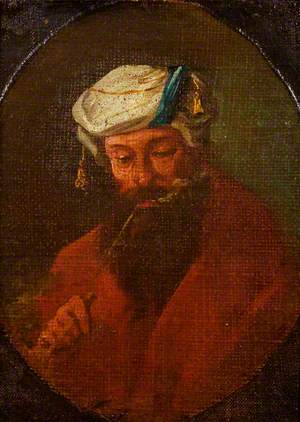 An Arab Smoking a Pipe