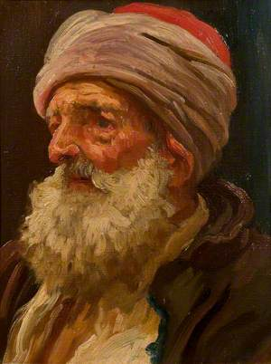 Head of an Elderly Arab