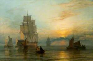 Shipping at Sunset