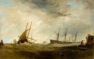 A Brisk Gale: A Dutch East-Indiaman Landing Passengers