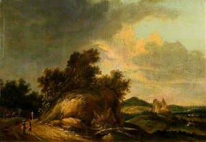 Rocky Landscape with Figures and Buildings
